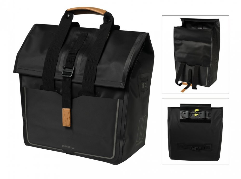 Basil Shoppertasche Urban Dry wasserdicht matt black