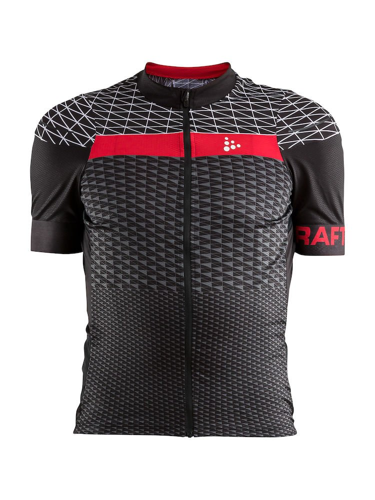 Craft Route Jersey M blackbright/red XL