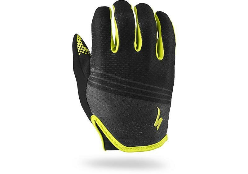 Specialized BG Grail Glove Long Finger Black/Hyper Green L