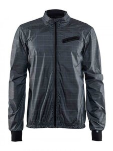 Craft Ride Wind Jacket M Gravel Check/Black M