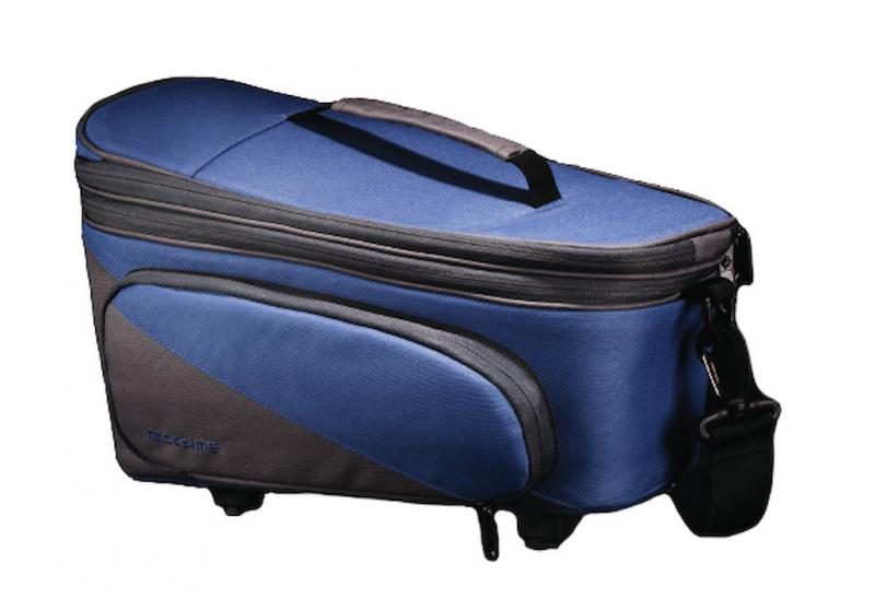 Racktime Talis plus trunk bag blue berry/stone grau